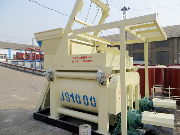 JS1000 twin shaft cement mixer