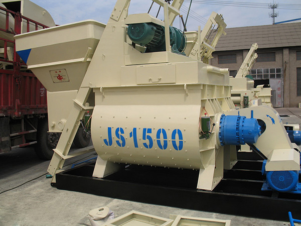 JS1500 twin shaft mixer
