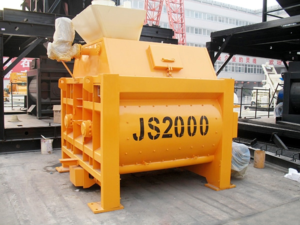 JS2000 twin shaft mixer machine