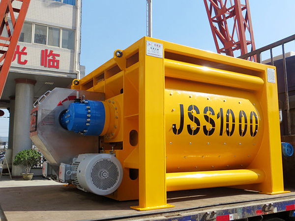 JSS1000 twin shaft mixer