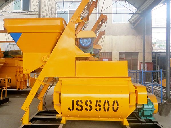 JSS500 twin shaft mixer