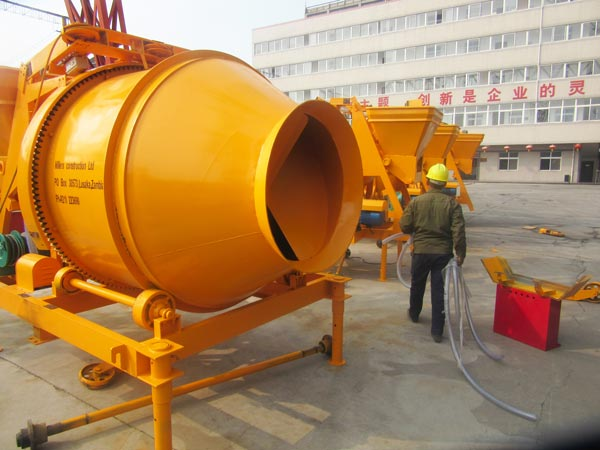 JZC500 concrete mixer with electric motor