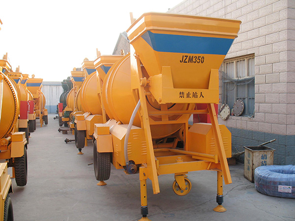 JZM350 small mobile cement mixer