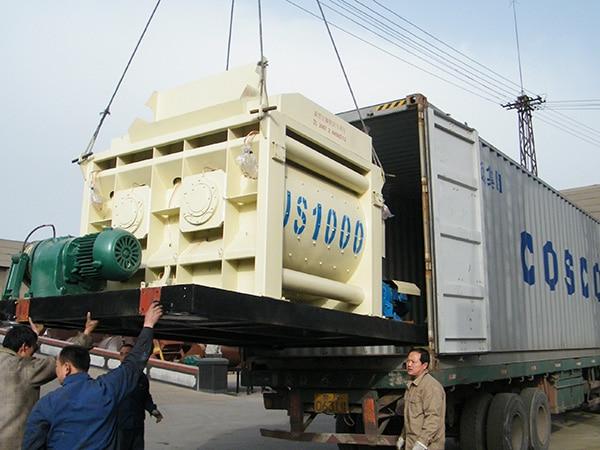deliver JS1000 concrete mixer