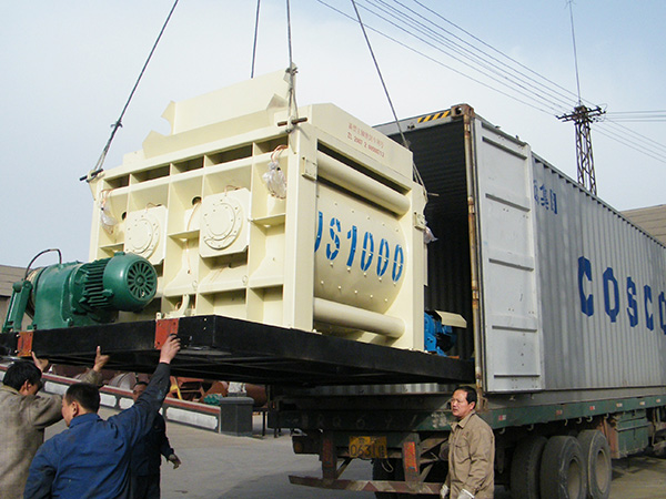 deliver twin shaft type to Philippines
