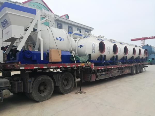 transport the portable concrete mixer