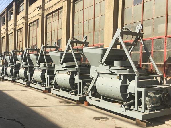 twin shaft mixer factory