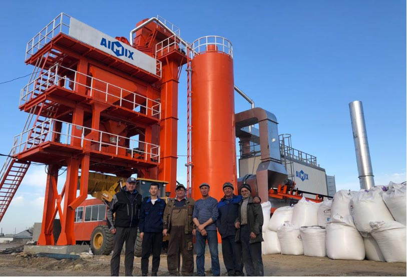 ALQ80 asphalt mixing plants in Russia