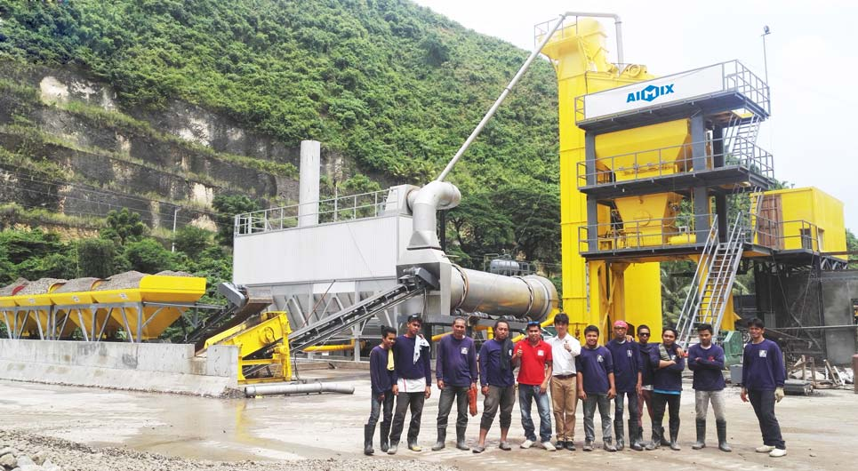 Asphalt mixing plant in Philippines