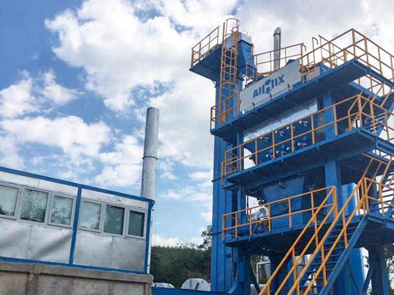 ALQ80 1000 mini asphalt mixing plant