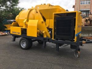 ABJZ40C concrete mixer pump with mixer