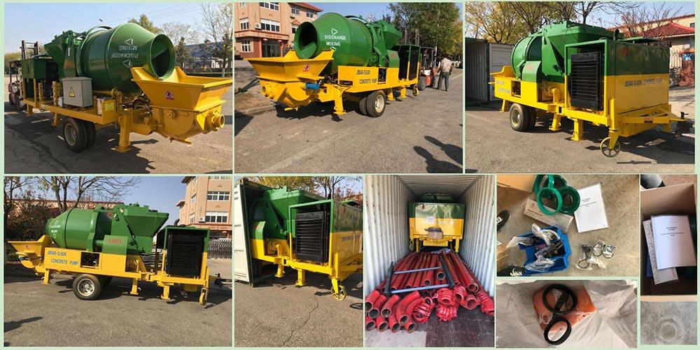 AIMIX ABJZ40C concrete mixer pump delivery