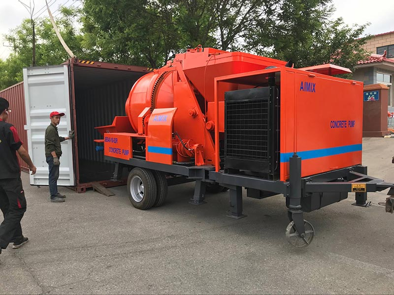 ABJZ40C Concrete Mixer Pump to Jordan