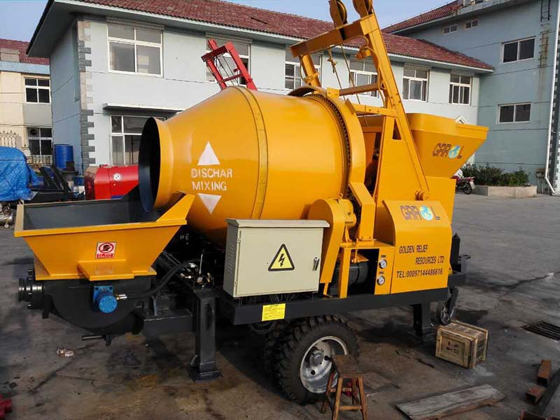 ABJZ40D electric concrete mixer pump