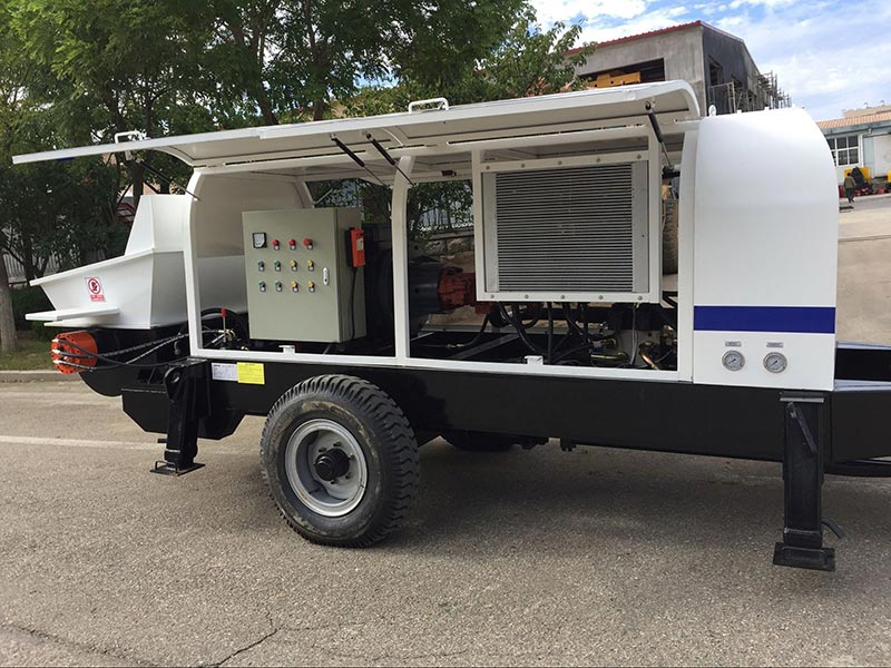 ABT60D electric concrete trailer pump