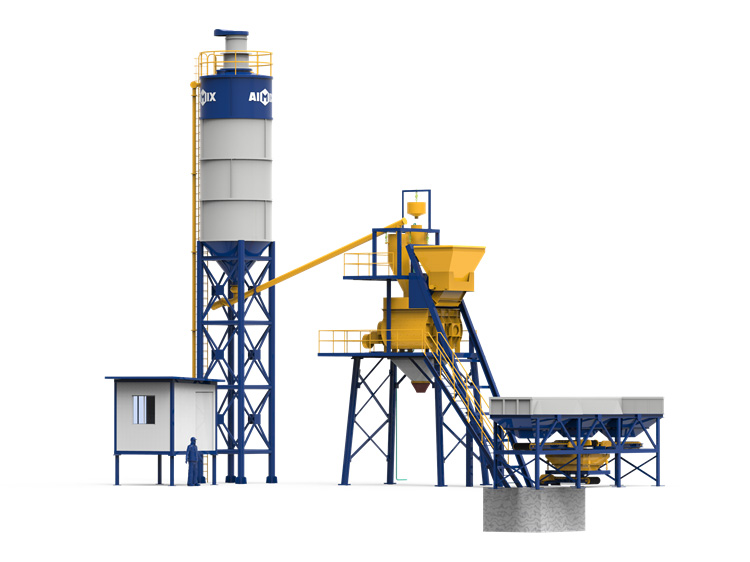 AJ-35 stationary concrete plant