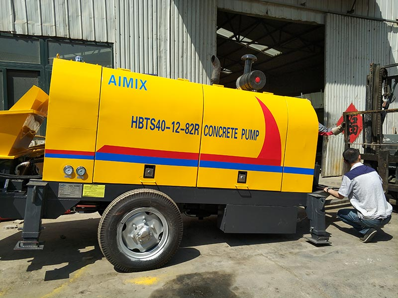 ABT40C Small Trailer Concrete Pump to Tanzania