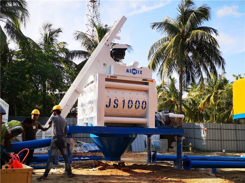 JS1000 portable concrete mixer