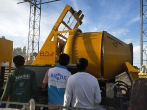Mini ABJZ40C concrete mixer pump with mixer in Philippines