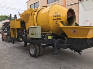 Mini ABJZ40C diesel concrete mixer pump in Philippines