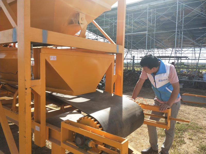 concrete mixer pump test