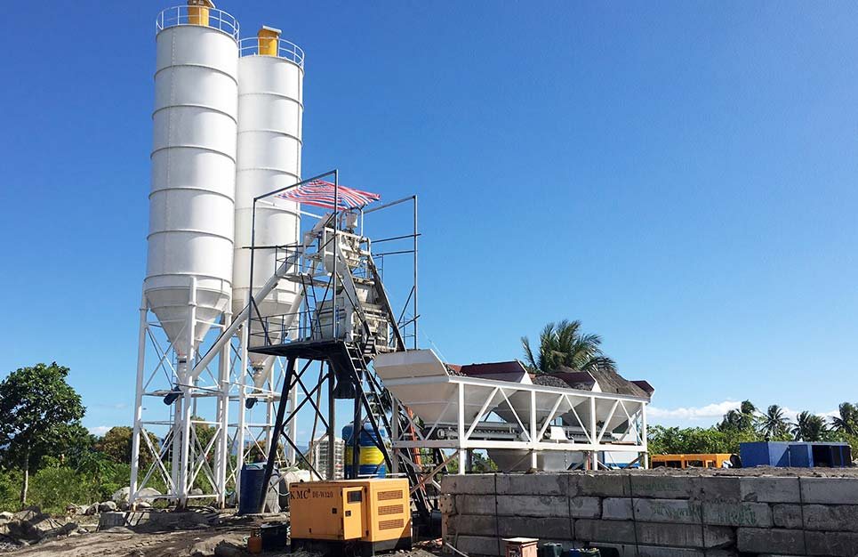 AJ-50 Stationary batching plant in the Philippines