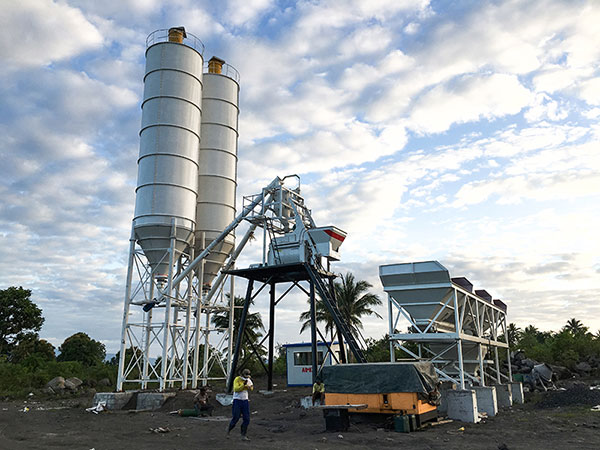 AJ-50 stationary concrete batching plant Philippines