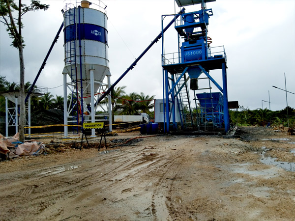 AJ-50 Foundation- Free Concrete Batching Plant Successfully Installed In Surigao, Philippines