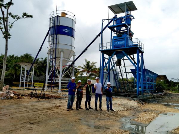 AJ-50 Foundation- Free Concrete Batching Plant In Surigao, Philippines
