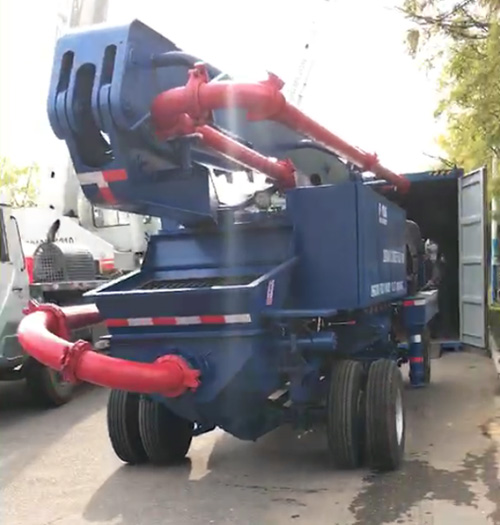 Concrete Boom Pump Deliver