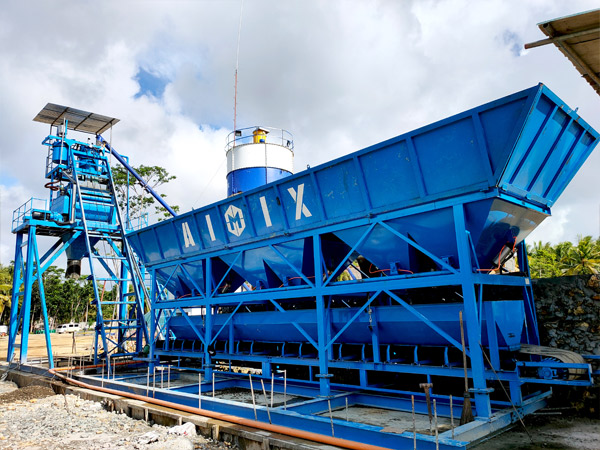 AJ-50 Foundation- Free Fully automatic Batching Plant Successfully Installed In Surigao, Philippines