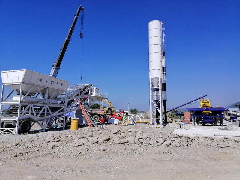 Mobile Concrete Batching Plant AJY-35