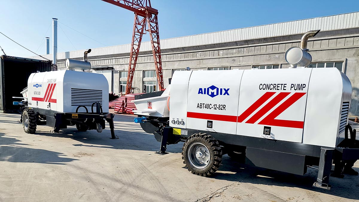 ABT40C Trailer concrete pump to Philippines
