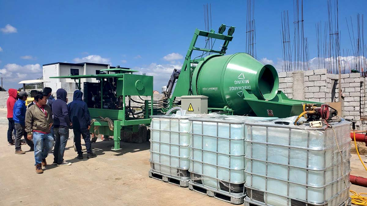 ABJZ40C Concrete Mixing Pump Is Working In Cavite Philippines