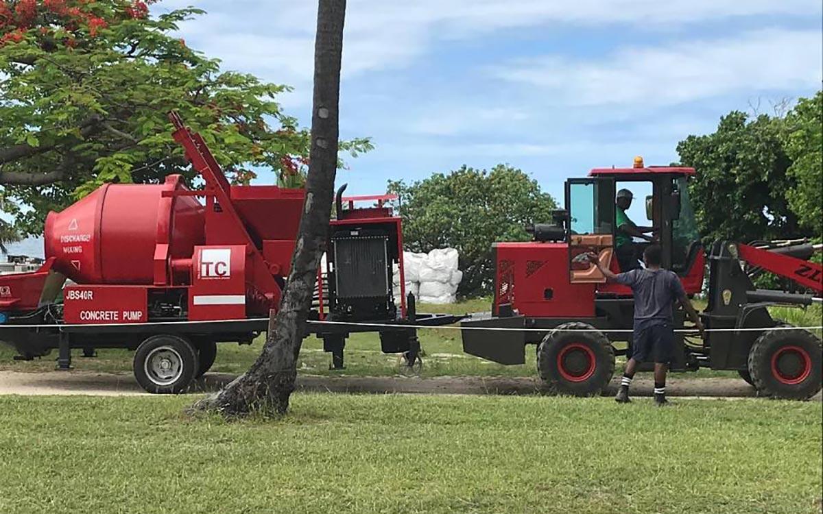 ABJZ40C Concrete mixer pump in Fiji