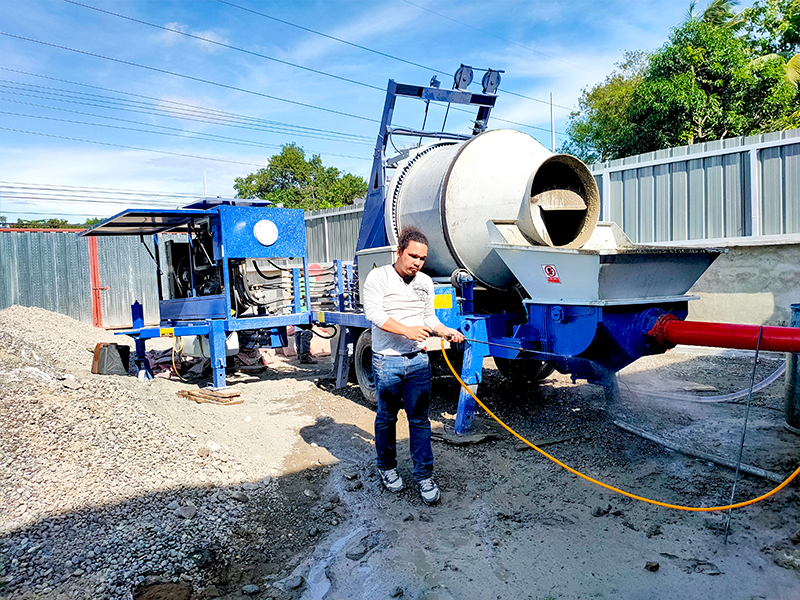 ABJZ40C Diesel Concrete Mixer Pump working in Davao Philippines