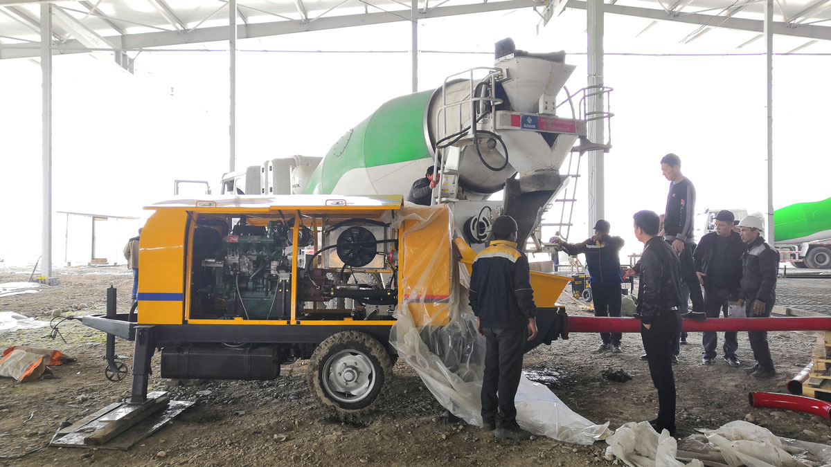 ABT40C Trailer Concrete pump in Uzbekistan