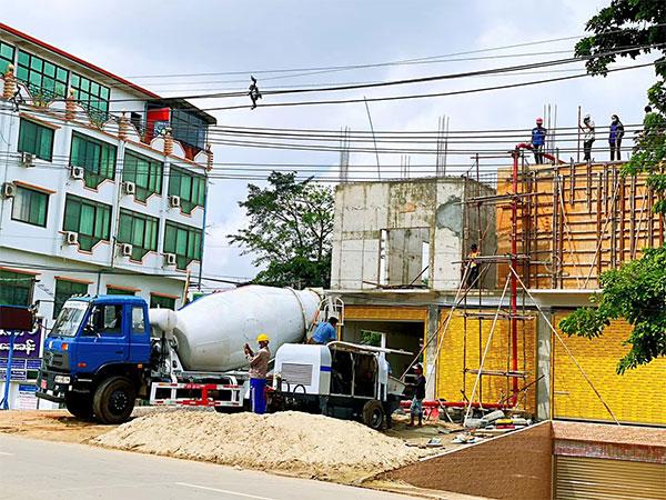 5.0cub concrete mixer truck in Myanmar