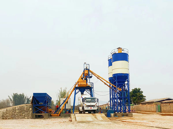 AJ-35 Batching Plant -Hopper Type in Myanmar