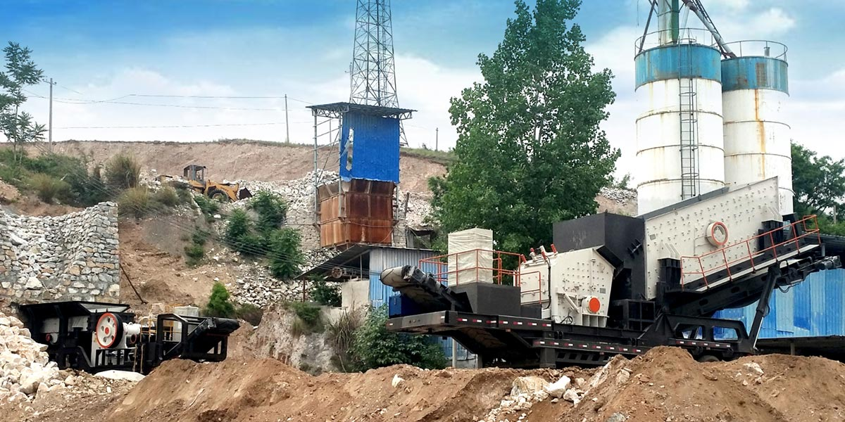 Mobile Jaw Crusher Plant On Work Site