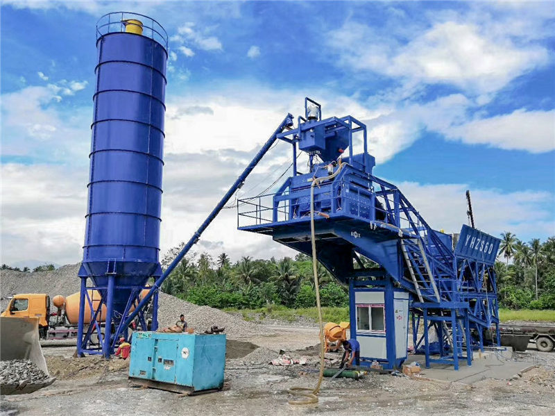 YAJ60 mobile batching plant in Philippines