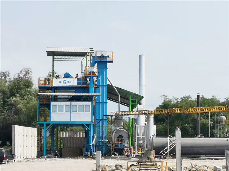 ALQ100 Stationary Asphalt Plant in Surabaya Indonesia