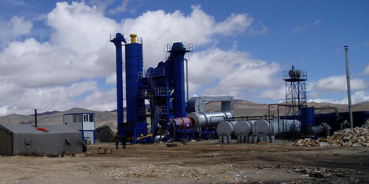ALQ160 Stationary asphalt plant in Altai