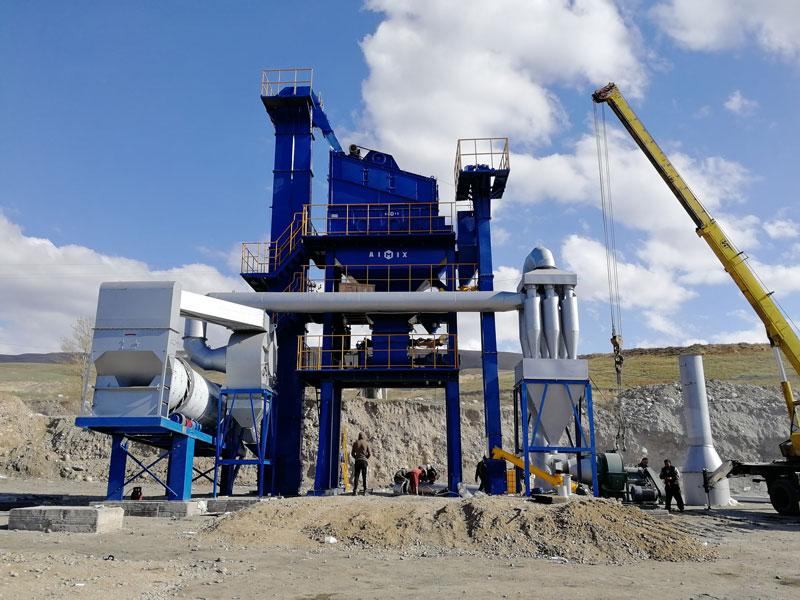 ALQ60 Stationary asphalt plant in Kyrgyzstan