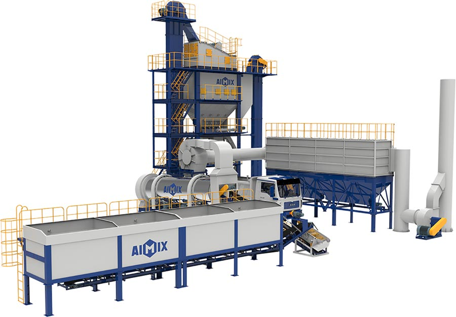 ALQ80 Asphalt plant 3D Drawing