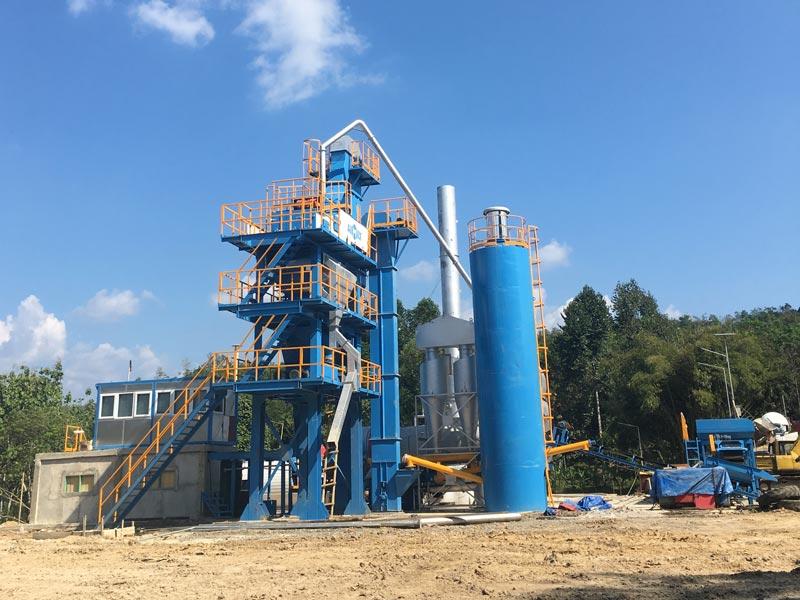ALQ80 Stationary asphalt plant in Palembang Indonesia