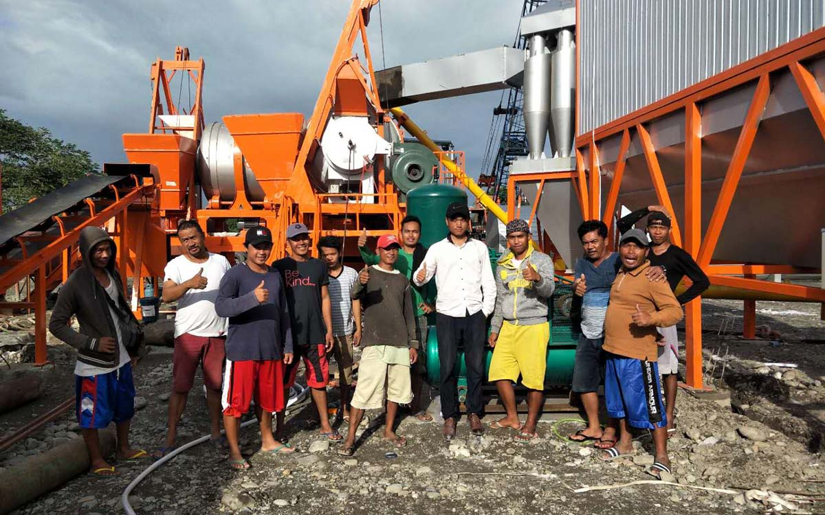 ALYJ60 Mobile asphalt hot mix plant was successfully installed in the Philippines