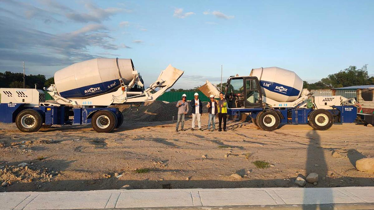 3.5 And 5.5 Cub Small Self-Loading Concrete Mixer Truck in Bataan Philippines