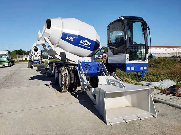 3.5 self-loading concrete mixer truck in Bataan Philippines
