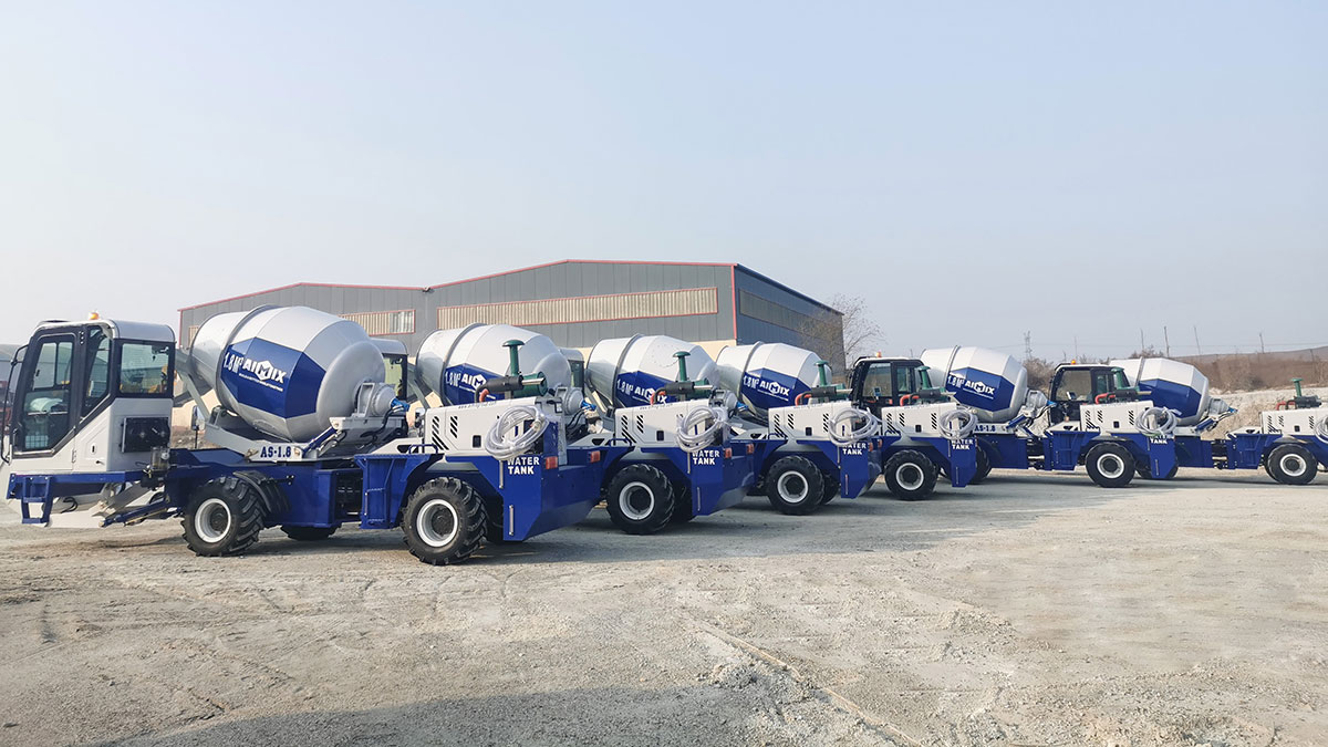6-sets 1.8 cub Self Loading-Concrete Mixer To Bataan Philippines